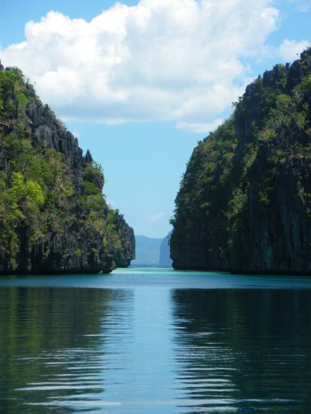 big lagoon entrance, el nido, palawan